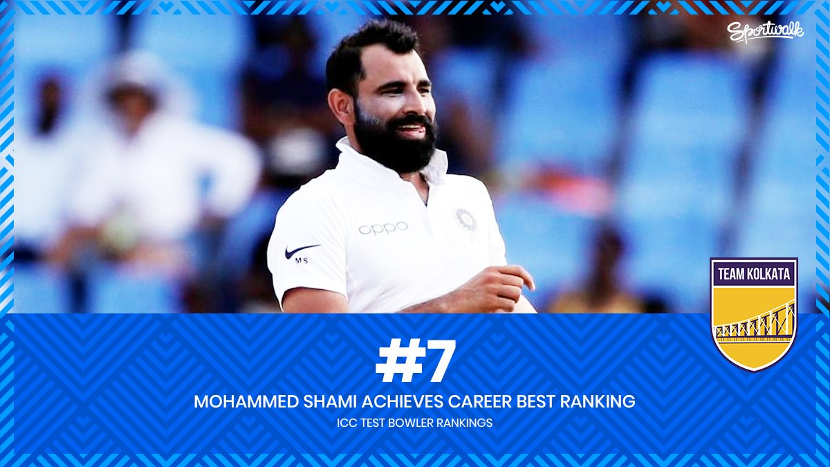 🇮🇳💥 SHAMI ON FIRE! @MdShami11 in the form of his life reaches his career high test bowling rank of No.7️⃣.Photo by Getty | #INDvBAN #INDvsBAN #viratkohli #mohammedshami #shami #mohammadshami #TeamIndia #indiancricketteam #indiancricket #cricket #VivoIPL #TeamKolkata #Sportwalk