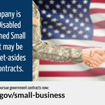GSA encourages service-disabled veteran-owned small businesses to become federal contractors! Learn more about opportunities to do business with the federal government: https://t.co/tmQIKMJRR5  #VetBiz #NationalEntrepreneurshipMonth