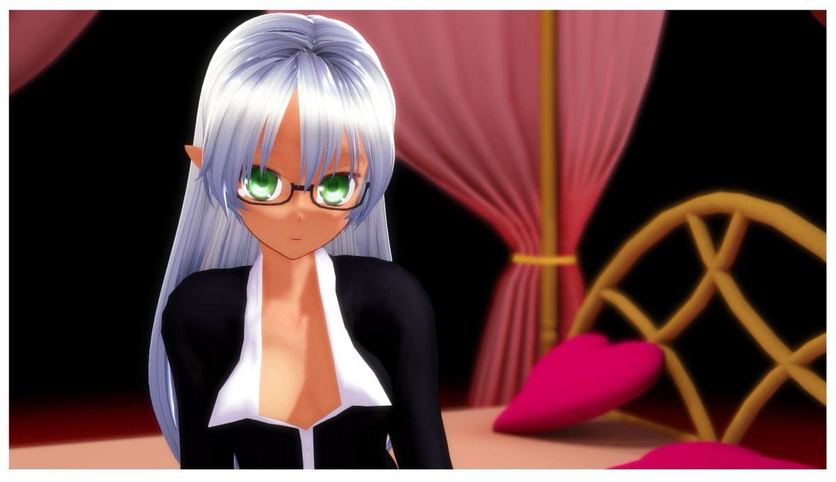 #顔のいいVtuberは黒ぶちメガネが似合う黒縁のアンダーリム眼鏡~♪メガネ娘はいいぞー #VTuber #Leviアート