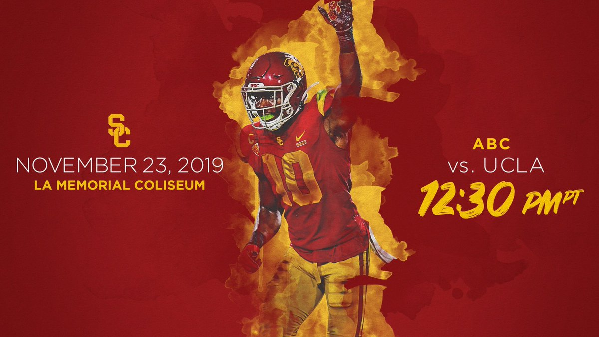 Rivalry game this Saturday. Fight on! Beat the bRUINS!