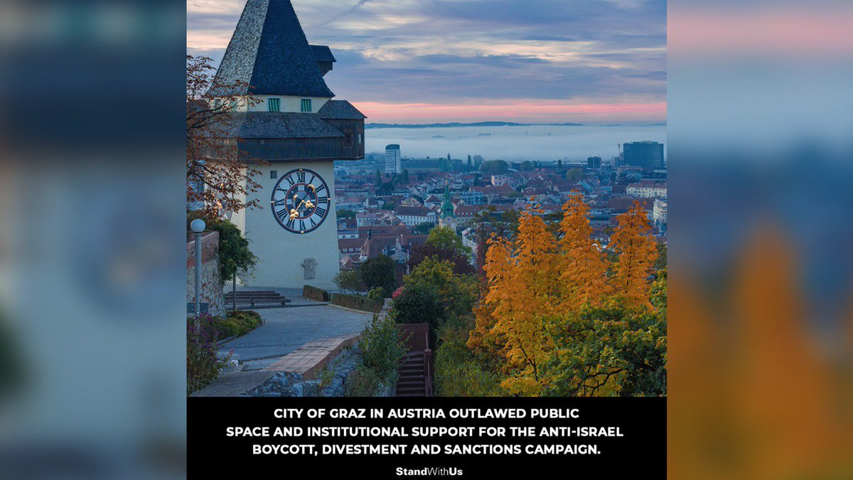 Austrian city bans public funds for antisemitic boycotts against Israel. jpost.com/Diaspora/Antis…
