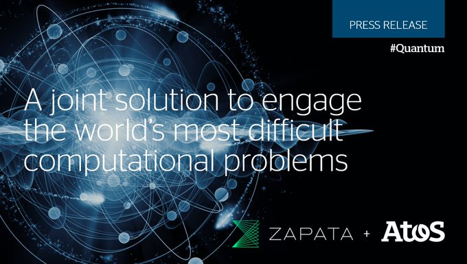 Together with @ZapataComputing, a US-based leading #EnterpriseSoftware company for #Quantum...