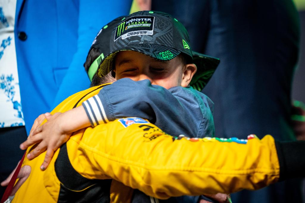 The most important trophy.   @KyleBusch | #Championship4 <br>http://pic.twitter.com/zx9bJeQnF8