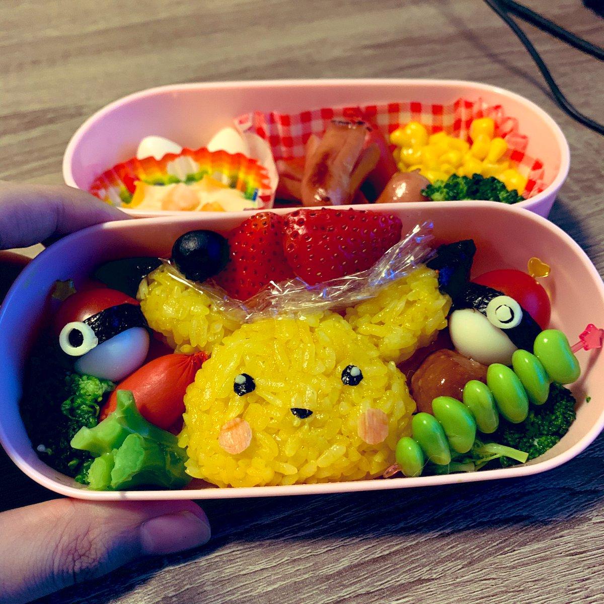 ポケモンのピカチュウのお弁当作りました!!#ピカチュウと繋がりたい