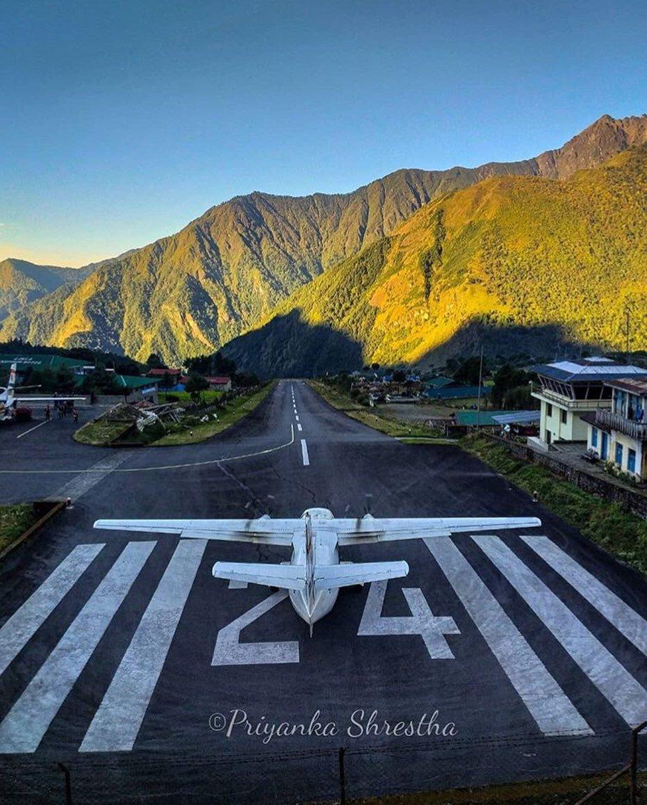 Tenzing-Hillary Airport, Lukla  📷: priyanka_shrestha  #Lukla #Luklaairport #everest #Sagarmatha #nationalpark #everestbasecamp #everestregion #trekking #treknepal #child #instanepal #wownepal #nepal8thwonder #discovernepal #explorenepal #nature #sulavyatra #VisitNepal2020
