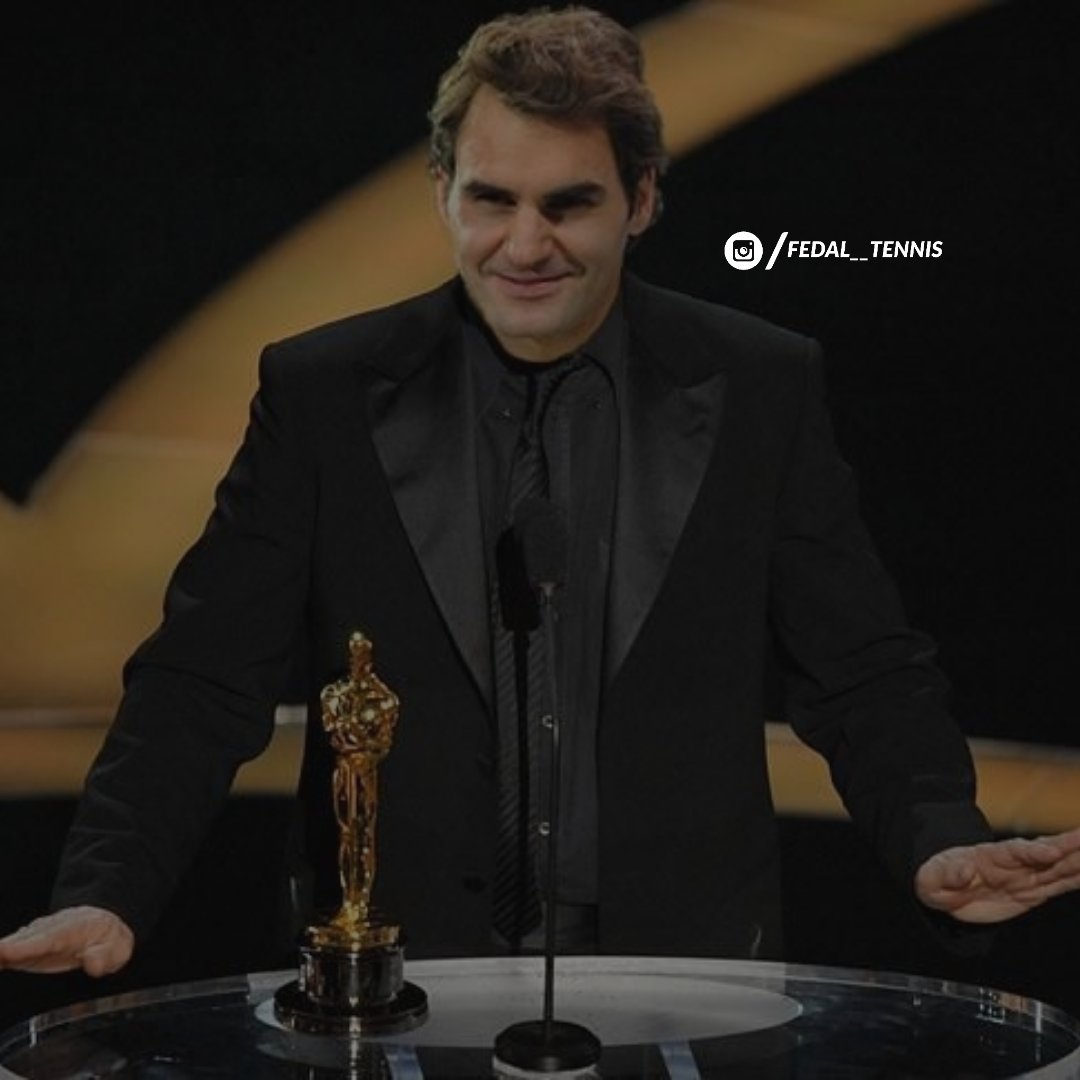 And the Oscar goes to @rogerfederer Can you guess the category?😉#RogerFederer#Fedal#RafaelNadal#FedalTennis