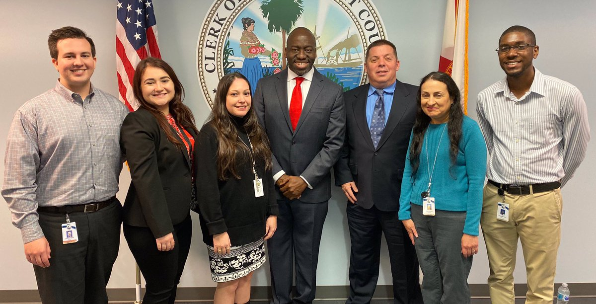 #Welcome aboard!! 🎉 Our newest team members sat down with Clerk Smith to learn all about our office today. They also got deputized! Congratulations, Cameron, Sammy, Yami, Douglas, Olga, and Alex. #BestPlaceToWork