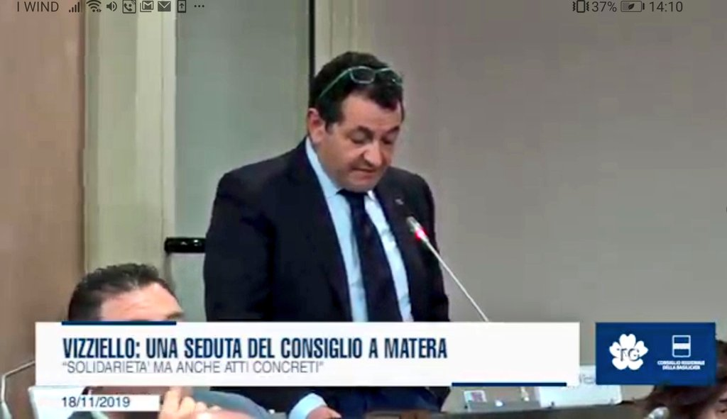 """Vizziello: """"Una seduta del Consiglio a #Matera"""". h..."""