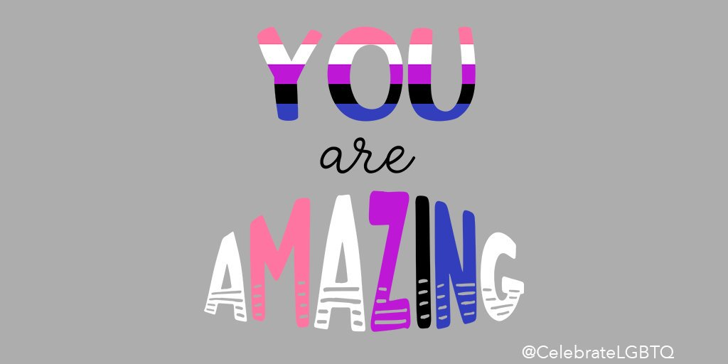 You are AMAZING!  Never doubt that!  #lgbtq #lgbtqpride #genderfluid #genderfluidpride #genderfluidlove #positiveaffirmationspic.twitter.com/BQeQZxWpyL