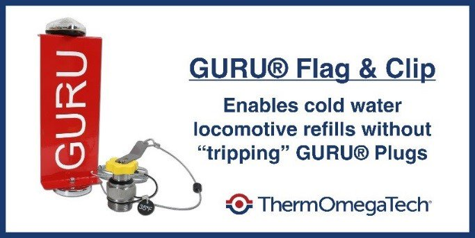 The #GURU Flag and Clip prevents nuisance dumping during cold-water tank refill to get your #locomotives back into service faster https://bit.ly/2X2qm68 #Railroad