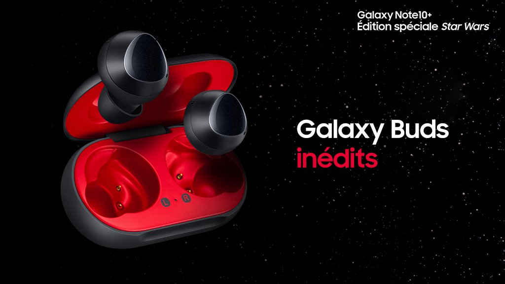 Galaxy Buds Star Wars Rouge