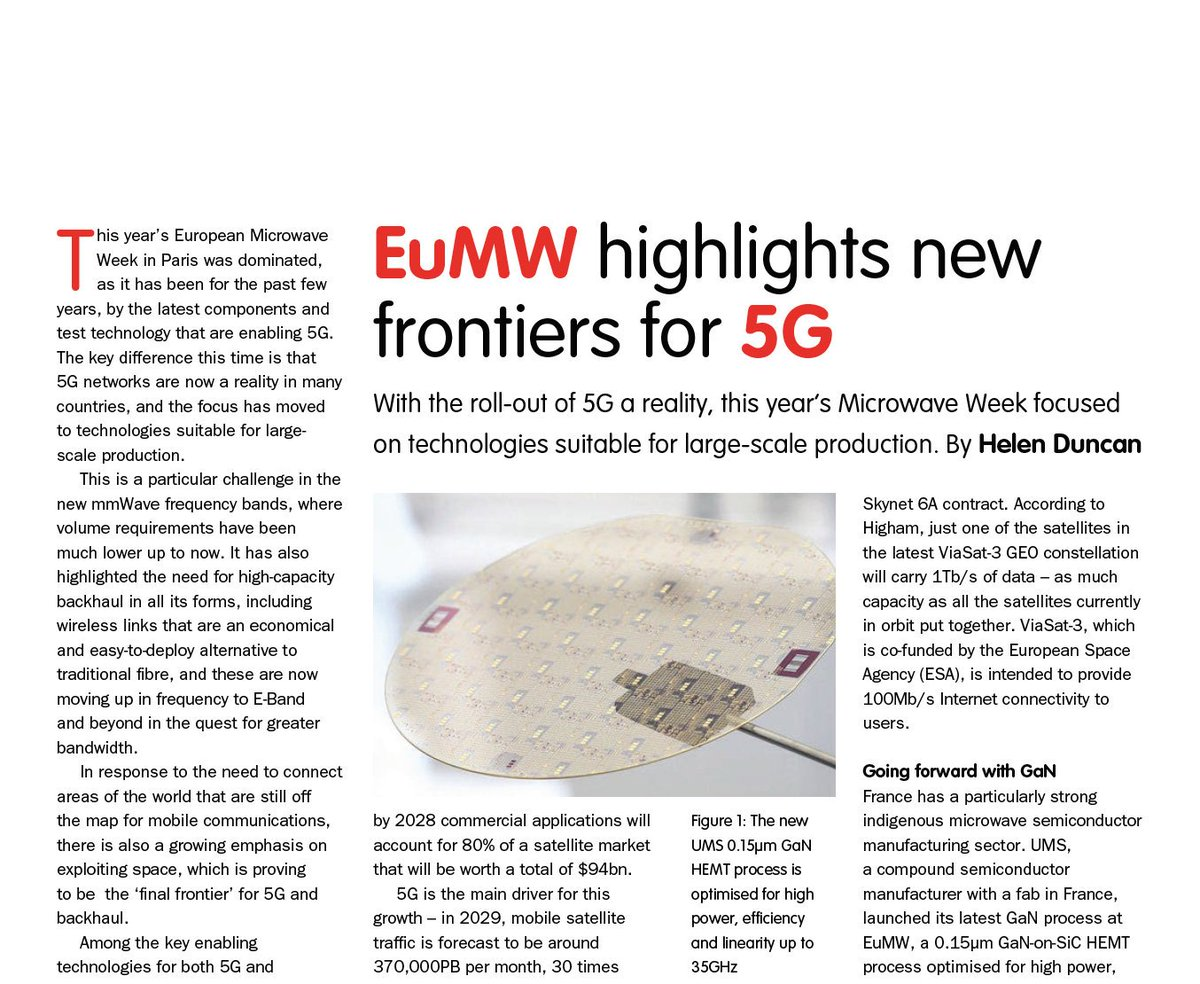 My review of #EuMW2019 published in @New_Electronics, featuring #space, #GaN and #5G #test http://journal-download.co.uk/digitalmagazines/ne/NE12NOV2019/pubData/source/NE12NOV2019FULLNE.pdf …