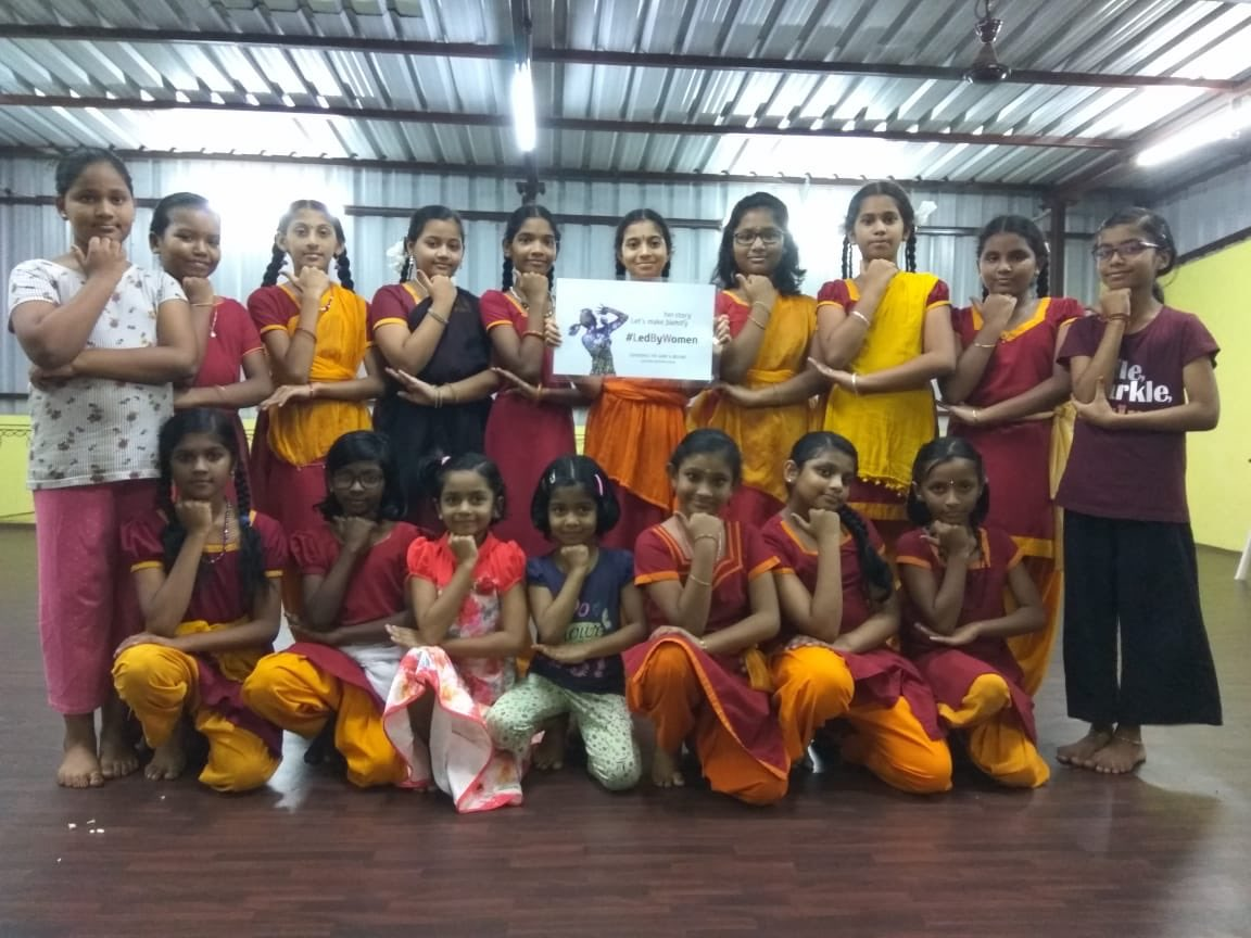 95 days to go to #T20WorldCup! Today's #LedByWomen stars are a young dance group in #Chennai,  who we look forward to seeing grow up to be leaders of tomorrow!