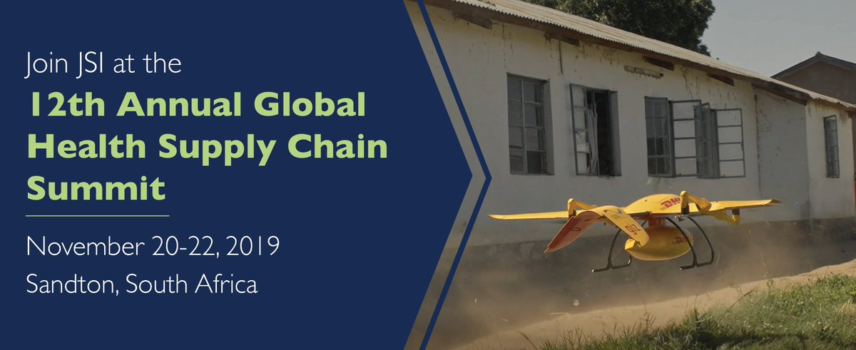 Strong  #supplychains save lives! Join us at  #GHSCS in South Africa to learn about the innovative, cost-effective ways we are helping countries get medicines, vaccines, and other products to people who need them.  #globalhealth  https://bit.ly/2KjHSzk  @inSupplyJSI  @PFSCM  @HealthSCM