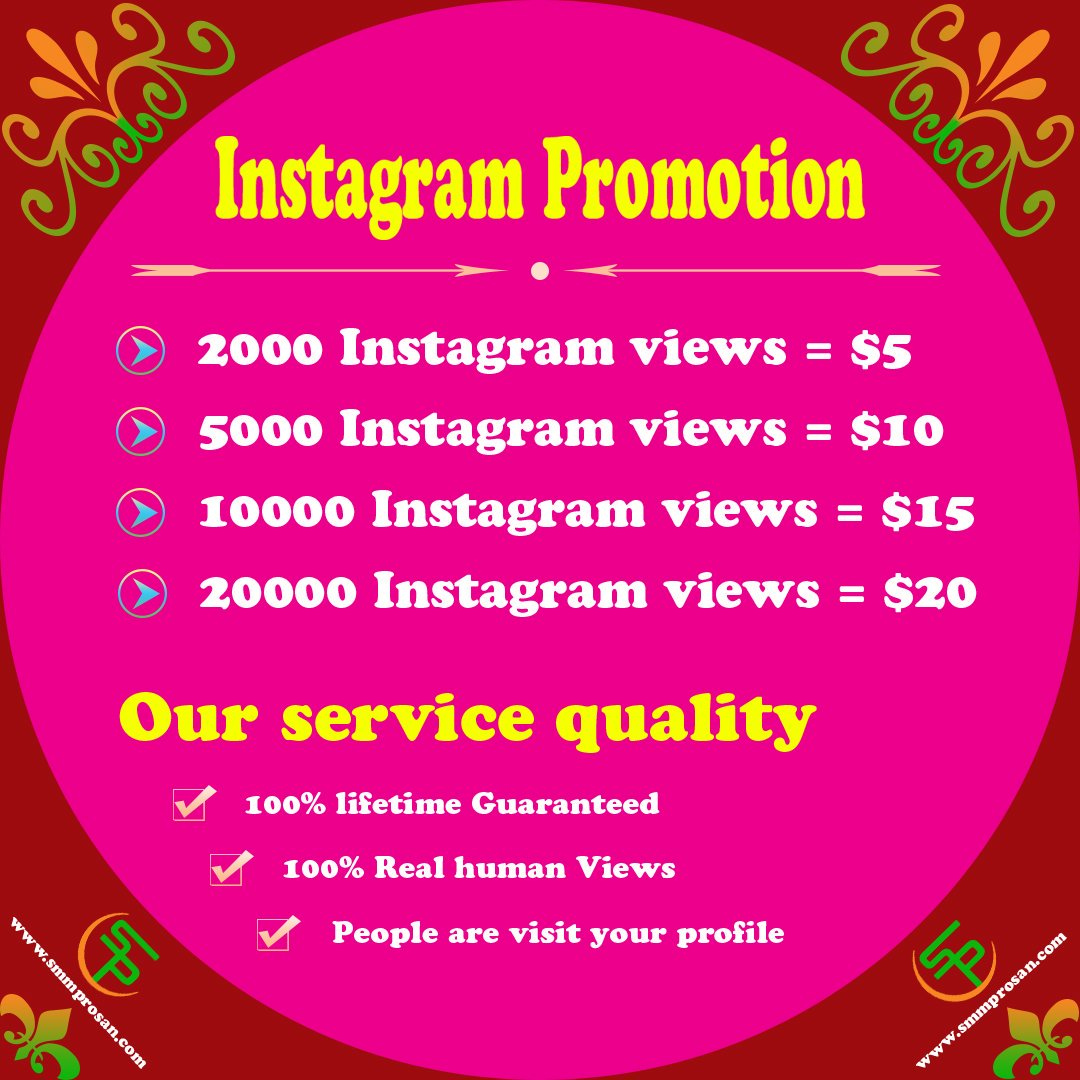 We are offering social media promotion services. You can check it out here -  http://www. smmprosan.com      #instragram #followers #likes #views #viewsfordays #views #viewstockholm #followeme #followed  #followersfree #instragram #instragramers #instragramtv #instragramhub #instragram<br>http://pic.twitter.com/aAGtpl3OmC