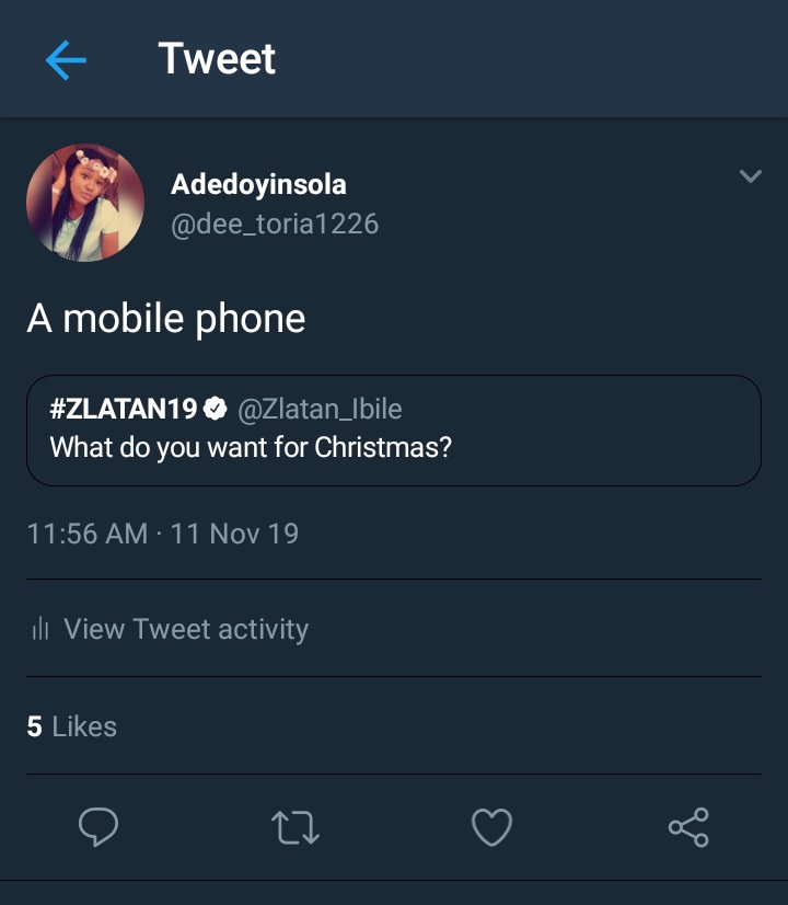 A very short STORY  Speak into EXISTENCE.... ND I DID  Dear Anonymous, Thank you so much for this...I received my Christmas Gift today and yes my OPPO F11  phone is beautiful  Yeah...BBGL  #DianeXJumia for the delivery  Thank you so much , I can't thank you enough<br>http://pic.twitter.com/PJYNER8doY