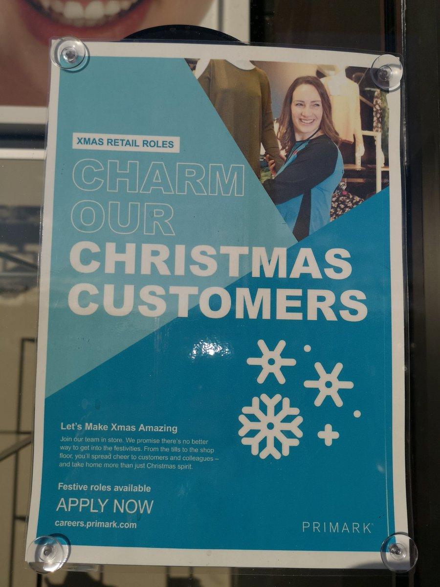 @Primarkjobs @Broughtonchat are hiring for Christmas roles https://t.co/bnYApF60dM