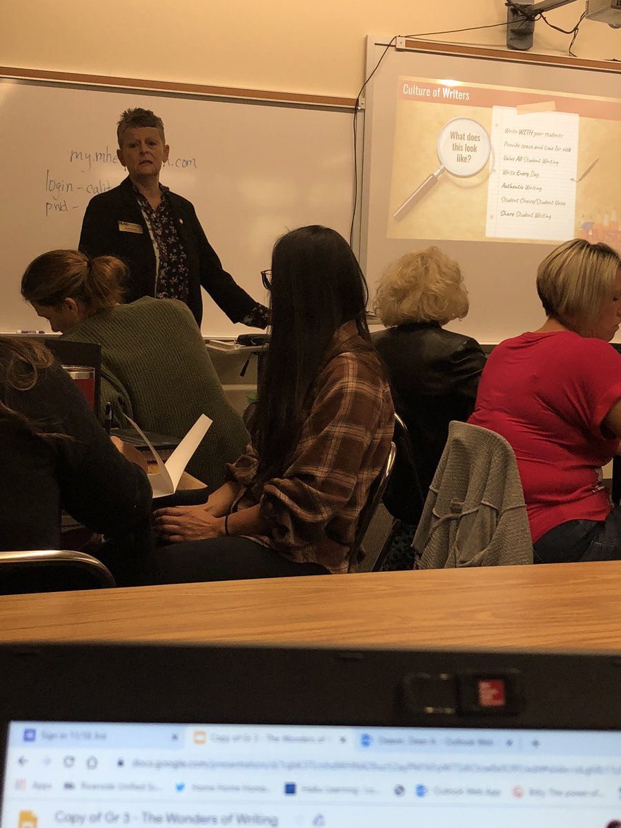 @jcsewell1 leading our writing training! @McGrawHillK12 #wonders @RUSDElemELA @RUSDLink #thirdgrade #writing