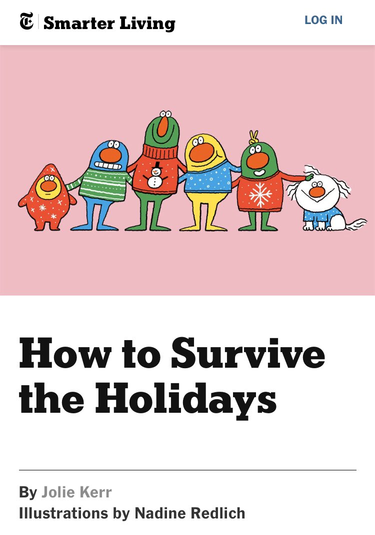 I'm in the New York Times today (thanks to @joliekerr) talking about checking in on friends and family at the holidays. nytimes.com/guides/smarter…