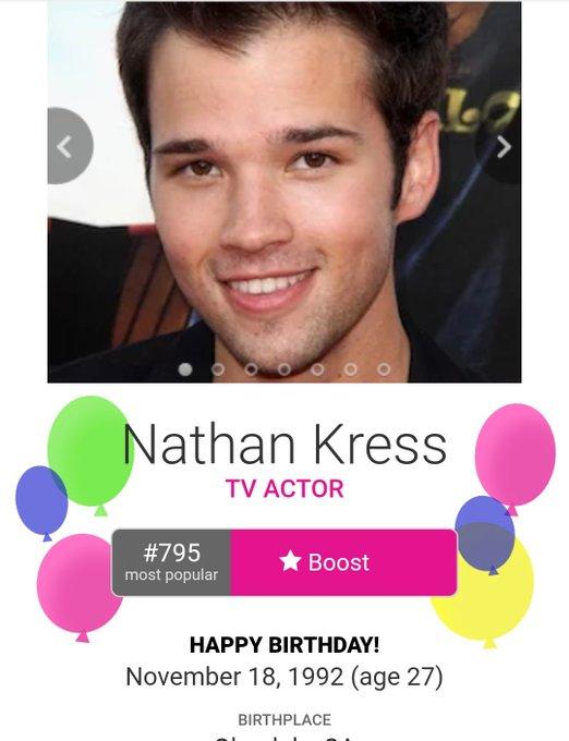 GUYS ITS NATHAN KRESS\ BIRTHDYA IT\S FRED\S BIRTHDAY GUYS SAY HAPPY BIRTHDAY