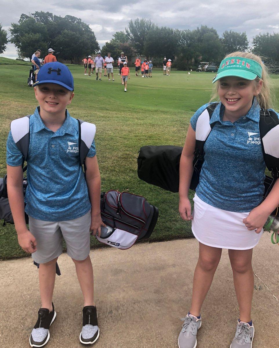 Siblings Riley and Ryan love PGA Jr. League❤️