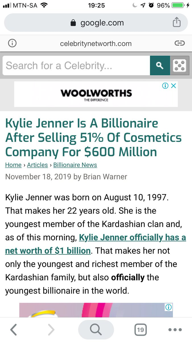 I'm sure it must've pained for Celebrity Networth to write this article. The were at the forefront of skeptics last year when Kylie's Forbes cover came out. That's right eat your words 😛
