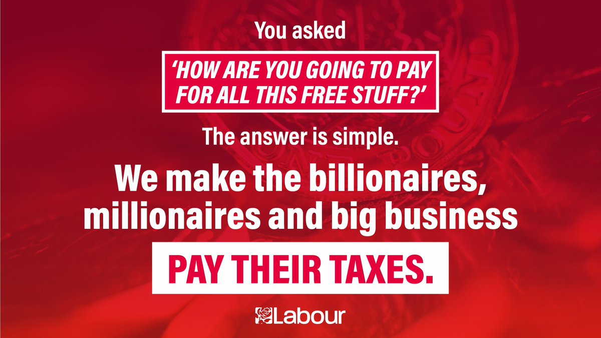 Our economy is broken and works for billionaires. Labour will make our economy work for the many not just the few. #BBCLeadersDebate