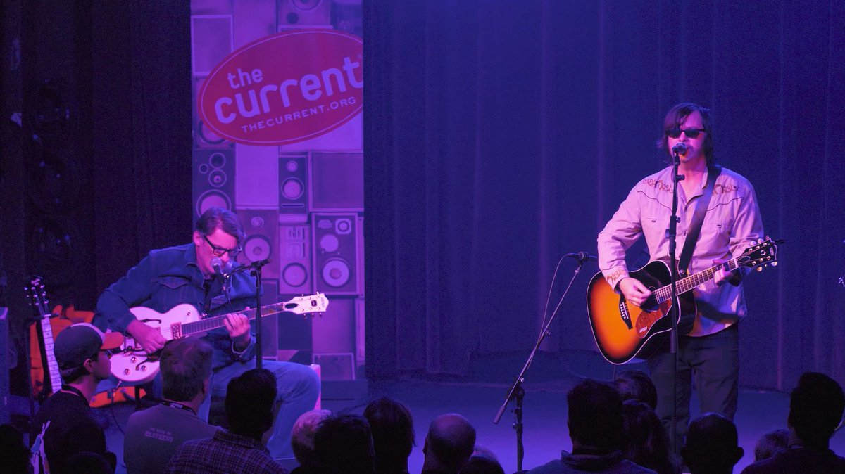 Coming up at noon Central, hear @sonvoltmusics Jay Farrar and Mark Spencer perform a stripped-down, nine-song set recorded live at the @FineLineMPLS (thanks to @newbelgium for its support of The Currents #MicroShow series). You can also watch it here: bddy.me/2QvntLf