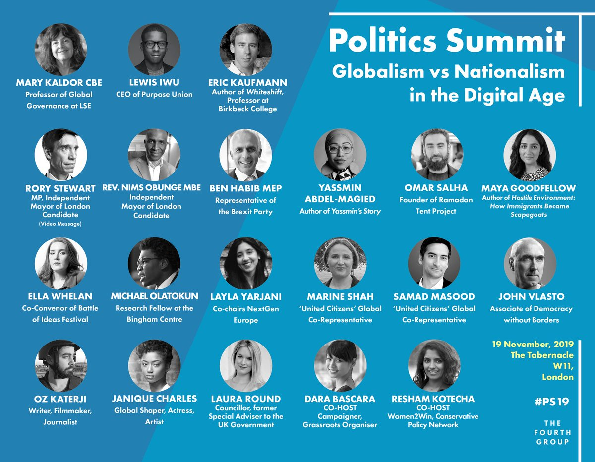 🏔️ We reach the summit tomorrow. Are you ready? 👥 POLITICS SUMMIT 2019 🗺️ Globalism vs Nationalism in the Digital Age 🕙 10am to 5pm, Tuesday 19th November 🏰 The Tabernacle W11, London, UK #PS19 eventbrite.com/e/politics-sum…