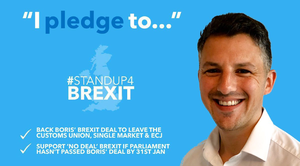 Thanks to @AdamDWordsworth , Conservative candidate for #WeaverVale, for signing our new pledge. ✔️#BackBoris' deal to #GetBrexitDone ✔️Back 'No Deal' if Withdrawal Agreement still not approved by 31st January #StandUp4Brexit