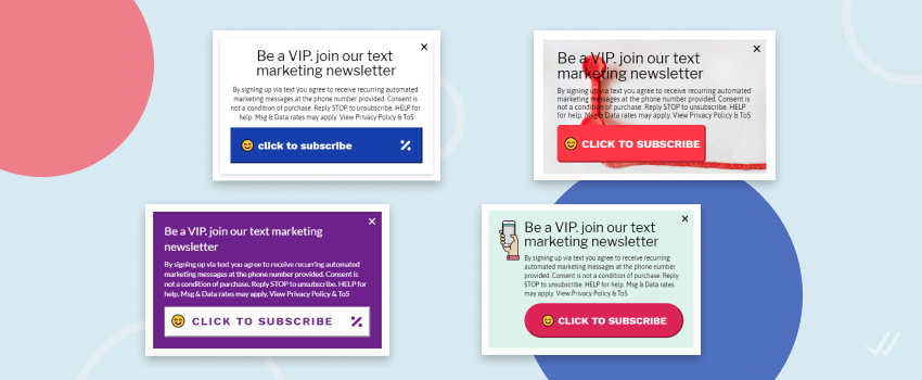BFCM Tip 4: You want some last minute boost on your subscribers list? Try using our newest mobile-first pop-ups. Subscribers can quickly sign up with just one click - no need to type in their phone numbers.   http:// bit.ly/33XGSIO     #BlackFriday #SMSMarketing #ShopifyMerchants<br>http://pic.twitter.com/E5Si0XRyyI