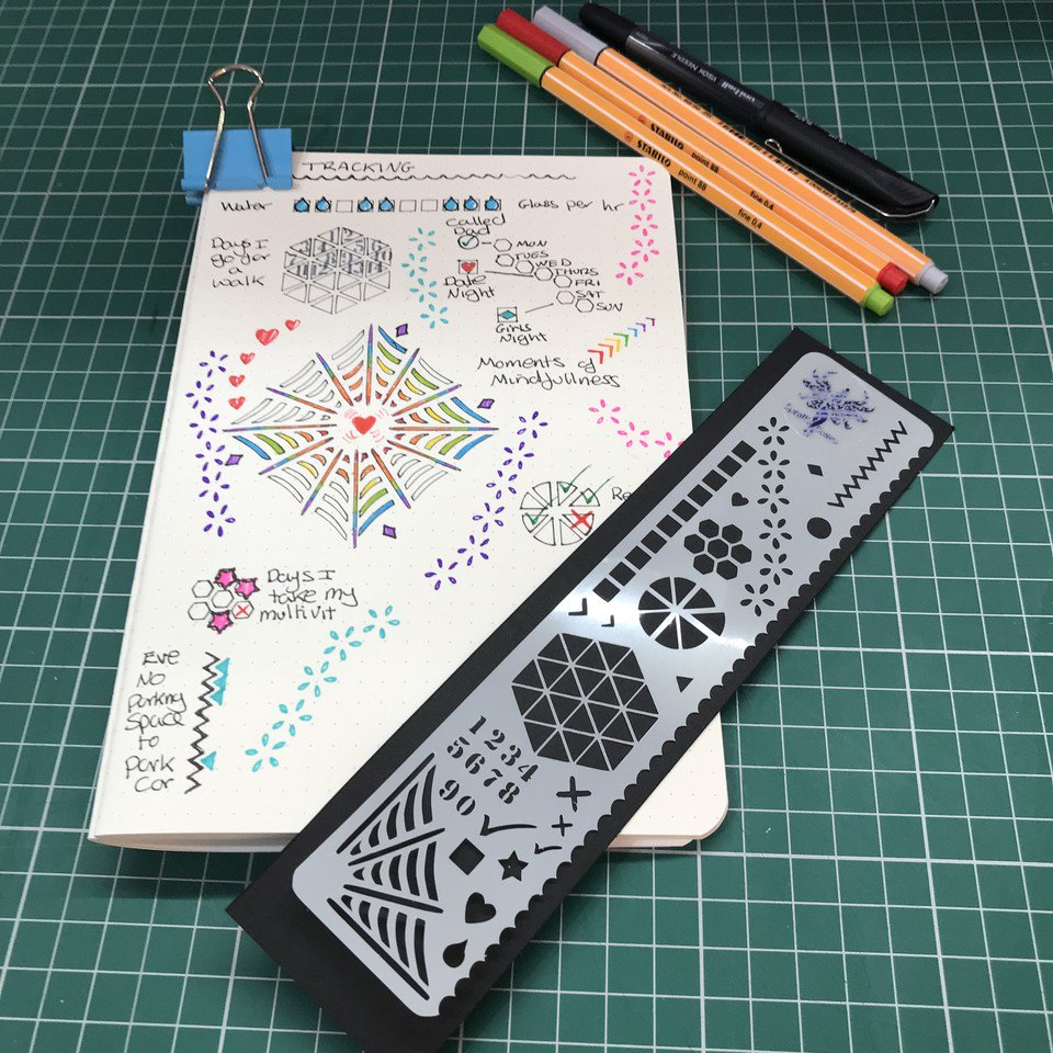 Are you on track with your #BulletJournaling how about adding some great trackers to your monthly spreads, my BookMark Stencil helps standardise your #Journals great Stocking Filler 🎅   #BuJoAddicts #EarlyBiz