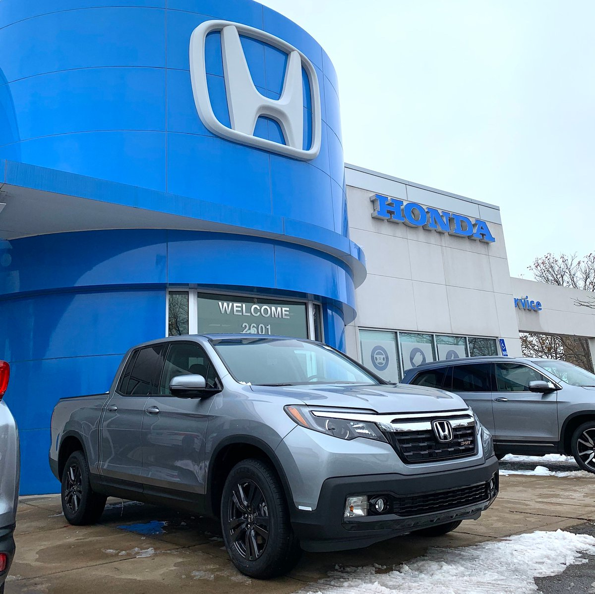 A little snow won't stop the #HondaRidgeline
