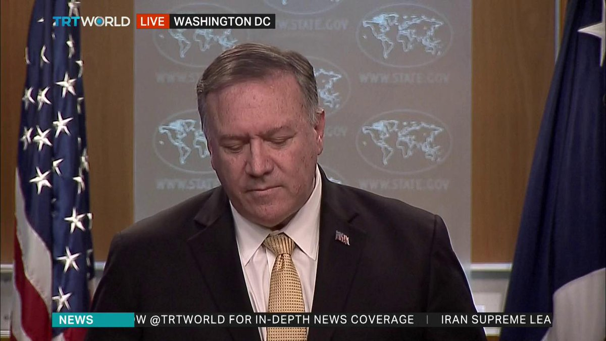 #BREAKING: US Secretary of State Mike Pompeo says Washington reversing Obama administration's position on Israeli Jewish settlements, saying these are not inconsistent with international law