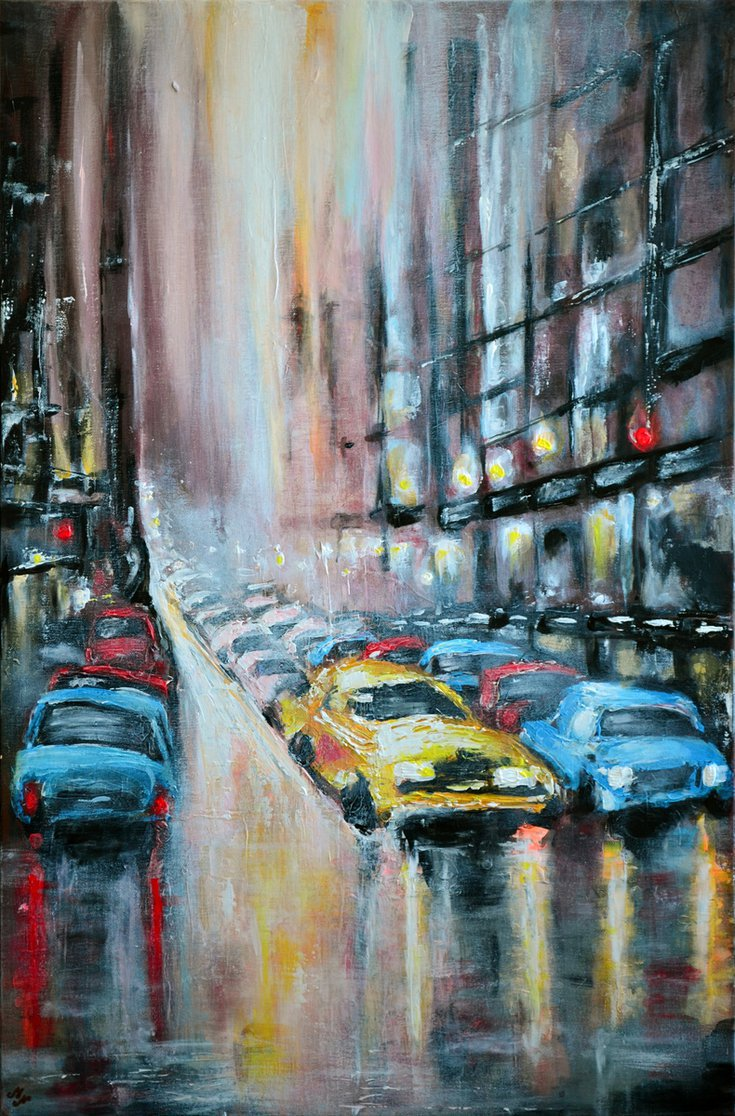 Rush Hours - Large Modern Palette kni... by @MistyLady4 via @artfinder #acrylic #painting #art