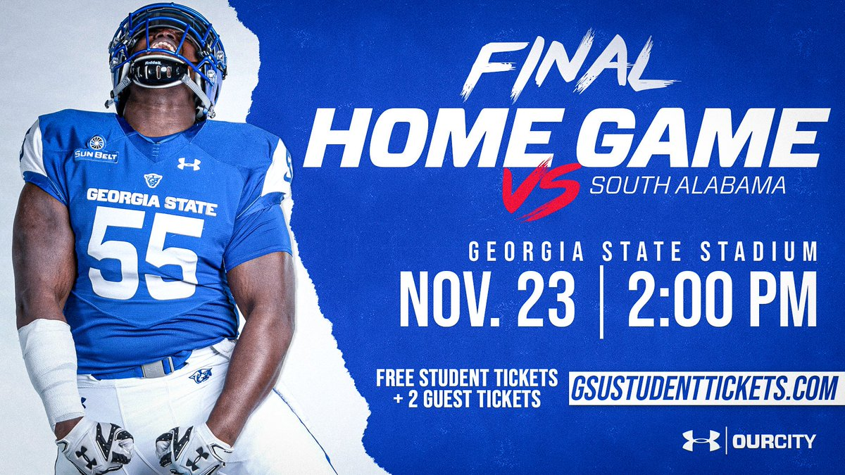STUDENTS #OurCity #LightItBlue  Accept Your FREE @GeorgiaStateFB ! Claim Your 2 FREE Guest Tickets! : Sat., Nov. 23 at 2pm : @GSUStadium :  http:// GSUStudentTickets.com       #LetEmKnow <br>http://pic.twitter.com/NnM7wXIZqV