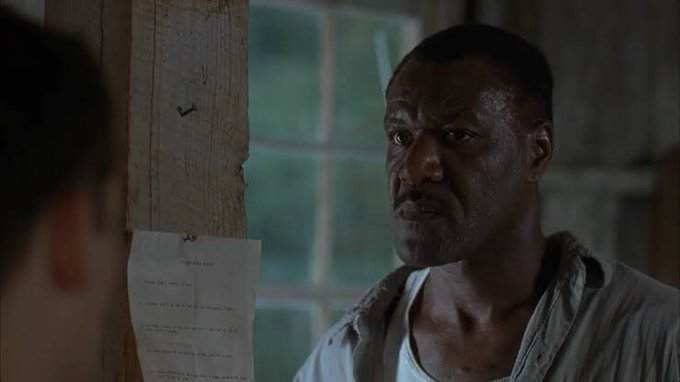 Happy birthday Delroy Lindo. He handled so well his complicated role in The Cider House Rules, great performance.