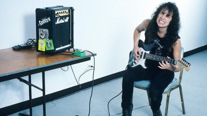 Happy Birthday to Kirk Hammett, born on November 18, 1962. Kirk Hammett of Metallica 1986