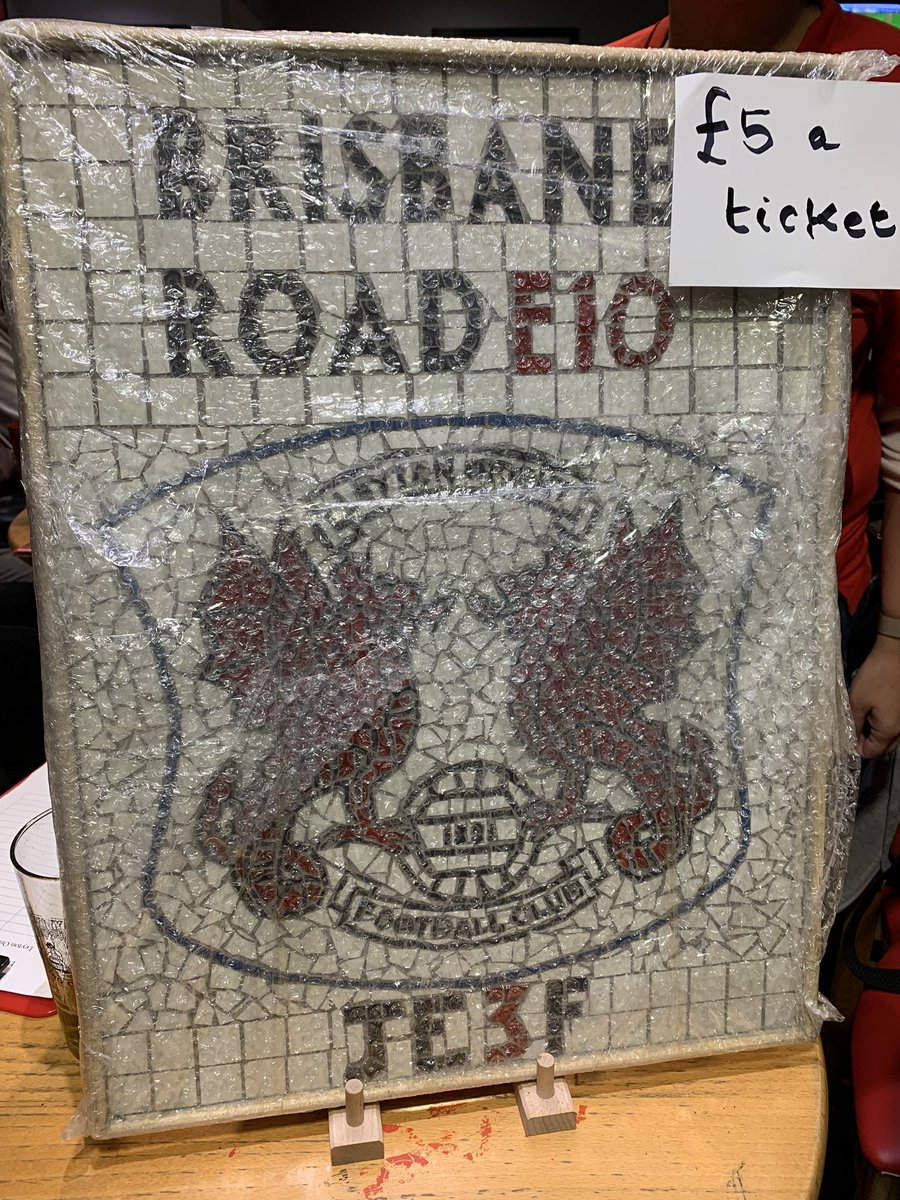 RAFFLE FOR @JE3Foundation @KerenOrient is selling tickets @ £5 each for a unique item of memorabilia made & donated by @jamesmosaicman1 in aid of @JE3Foundation at every home game ❤️⚽️👇🏼👇🏼💷#YouHaveToBeInItToWinIt #Raffle #Mosaic #JE3 #HereForTheMemories #BrisbaneRoad #E10 #lofc