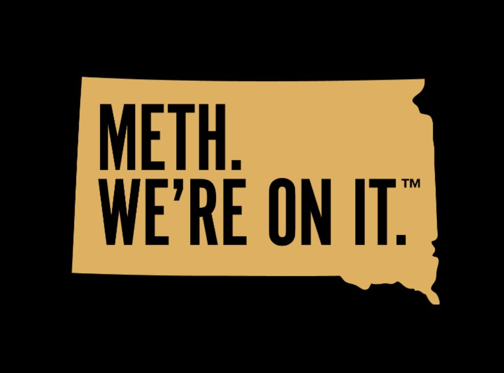 South Dakota has launched a campaign to combat meth. With this new logo. onmeth.com