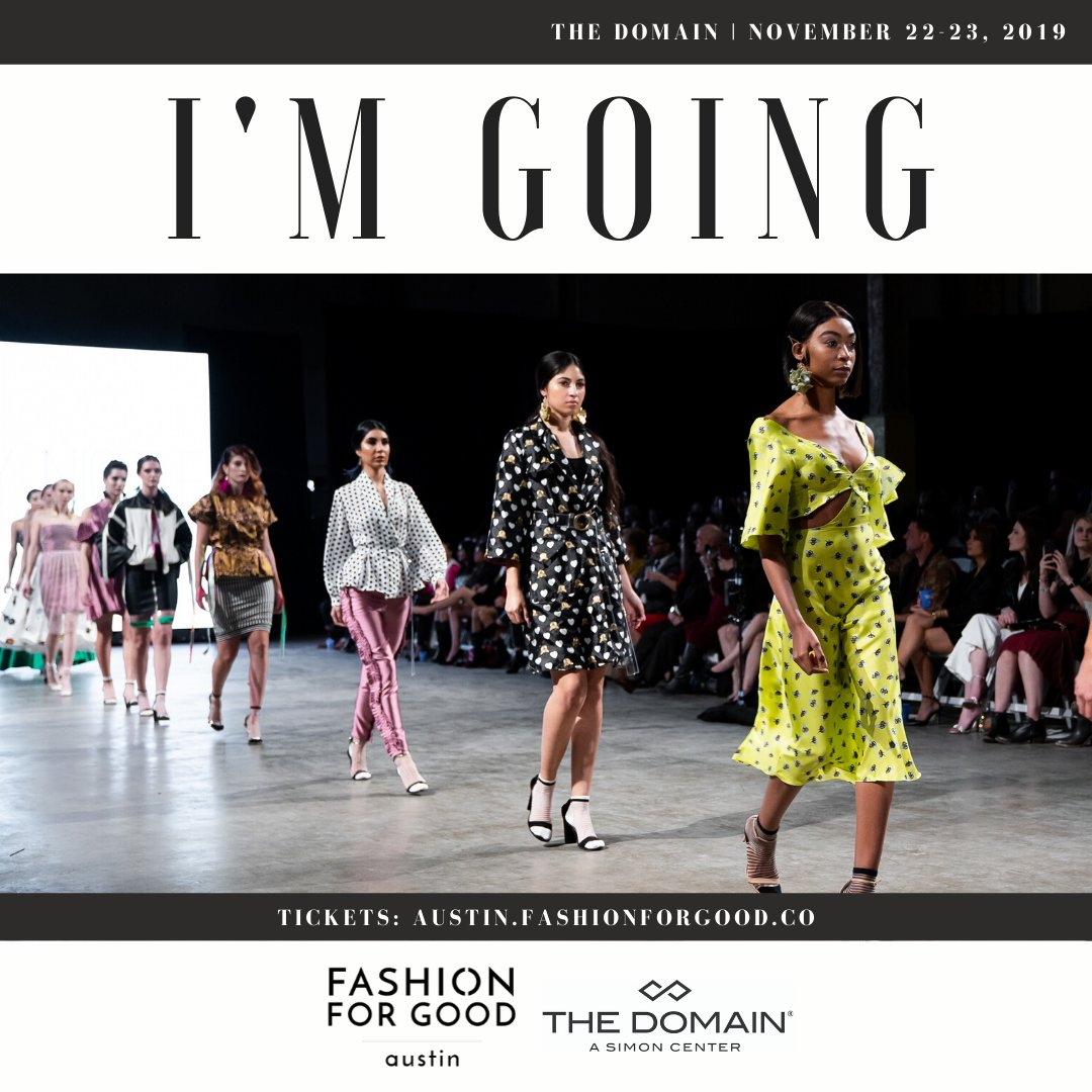 See you there! #TVStyleExpert #FashionStylist #GQInsider @fashforgood @TheDomainAustin