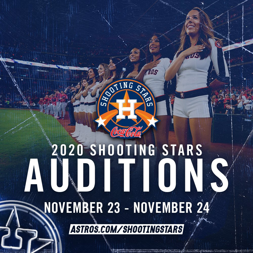 Register for this weekend's @AstrosStars auditions! ⭐️Tomorrow is the last day to pre-register: http://Astros.com/ShootingStars