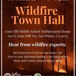 Image for the Tweet beginning: #HappeningNow Wildfire Town Hall at