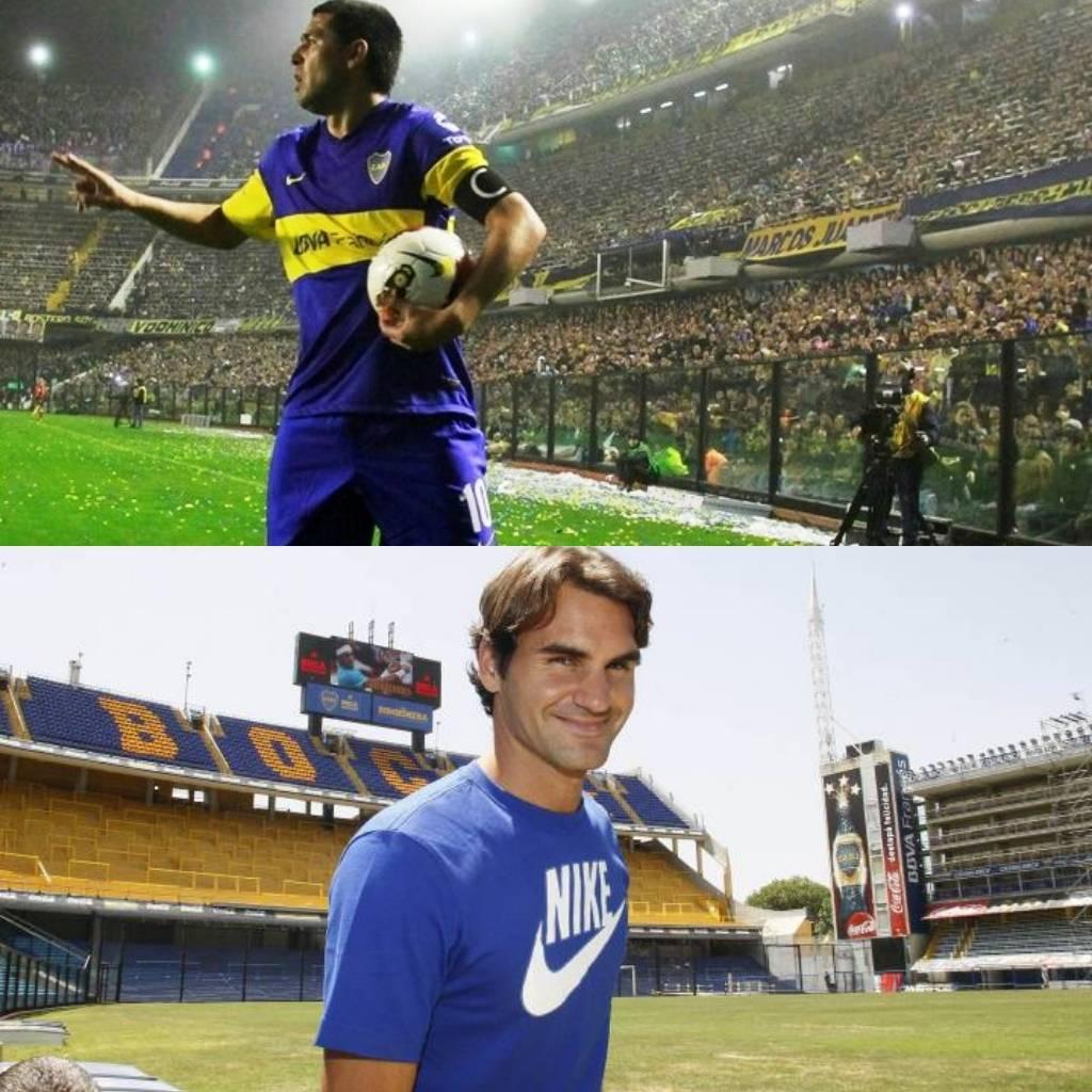 """Wimbledon es como mi patio. Algo así como es la cancha de Boca para Riquelme."" -Roger Federer en entrevista con TyC Sports.#Riquelme #Federer #RogerFederer #Boca #Wimbledon #GolJuez"