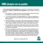 Image for the Tweet beginning: La Cooperativa Rural de Electrificación