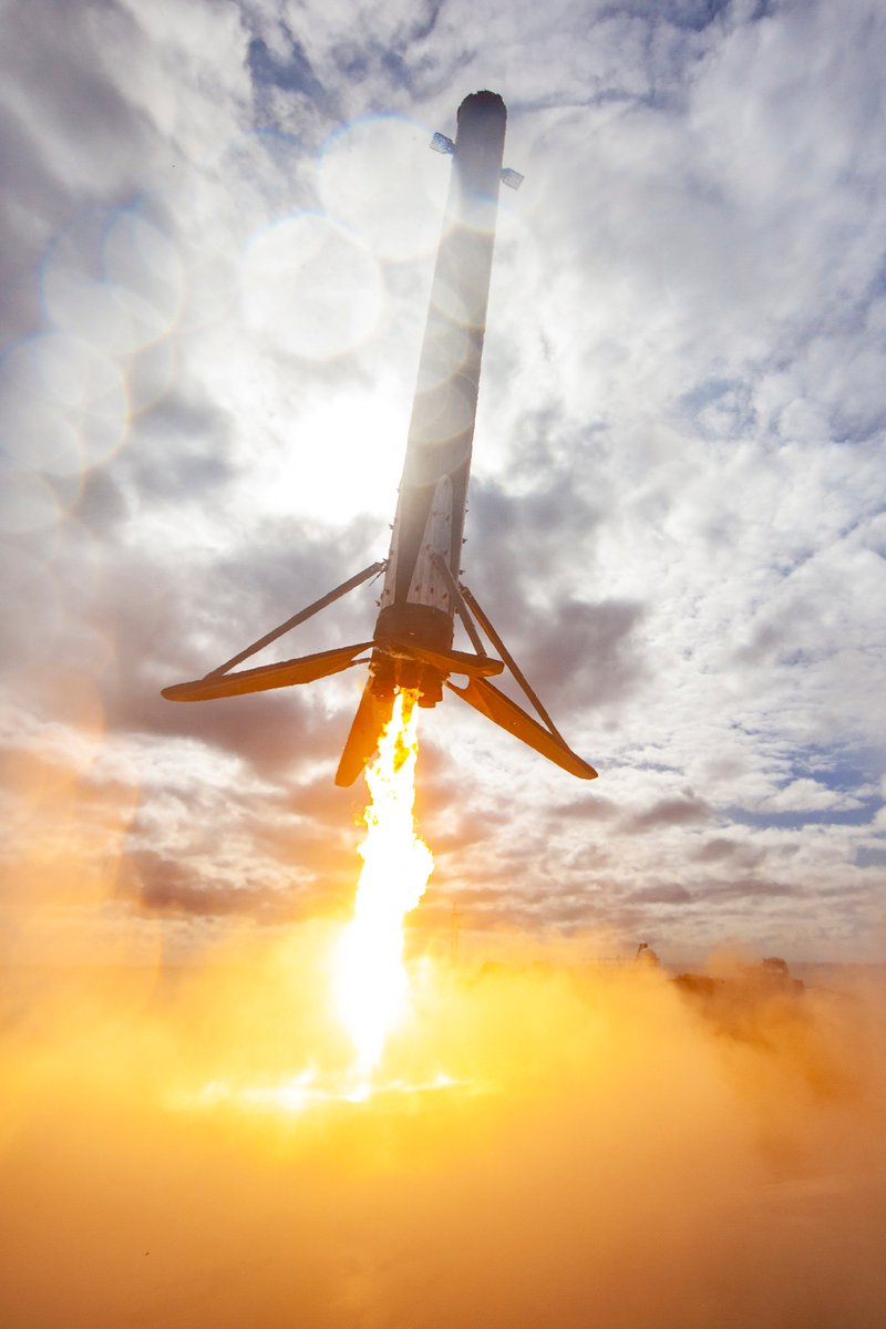 Falcon 9's first stage lands on the Of Course I Still Love You droneship and returns to port, completing this booster's fourth launch and landing
