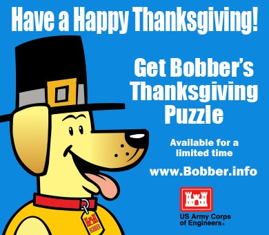 Download your FREE #Bobberthe  WaterSafetyDog Thanksgiving puzzle today at  http://www.bobber.inf o  #happythanksgiving