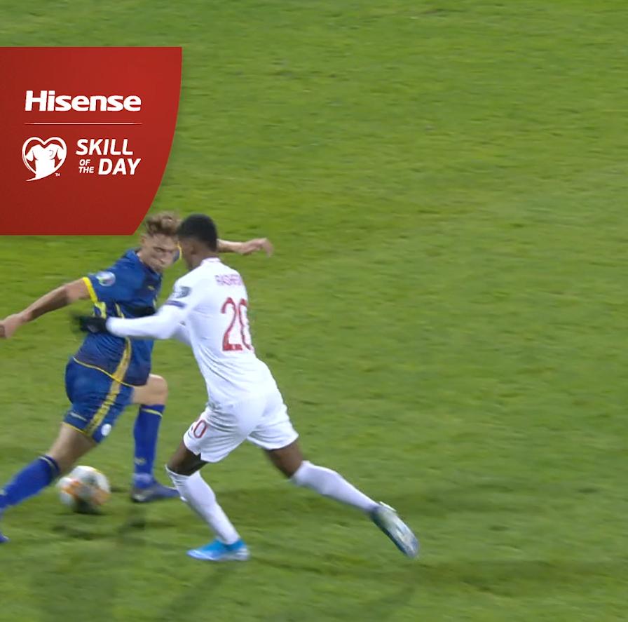 The double move 🔥🔥🔥 🏴 Rashford wins Skill of the Day 👏 #EURO2020 | #HisenseSkills | @HisenseSports