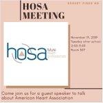 Image for the Tweet beginning: #Hosa Meeting tomorrow! #careerteched #CTEinCCSD