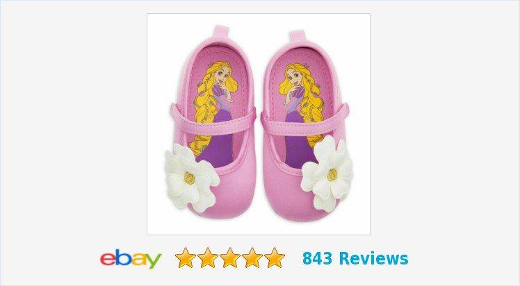 NWT Disney Store Rapunzel Flip Flops Sandals Shoes Girls Princess Tangled